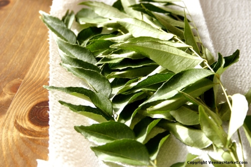 Curry leaves can be air dried