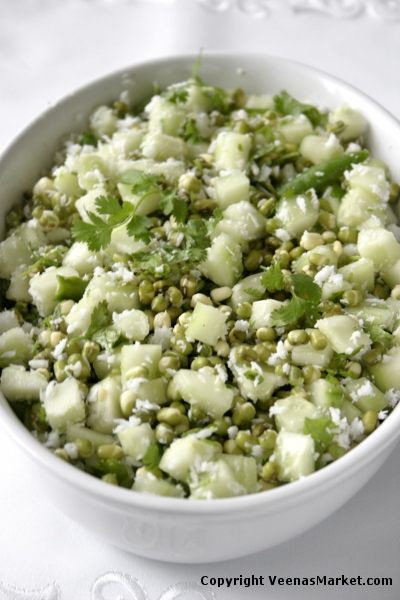 mung bean cucumber salad