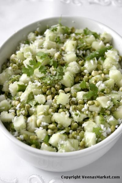 mung bean cucumber salad