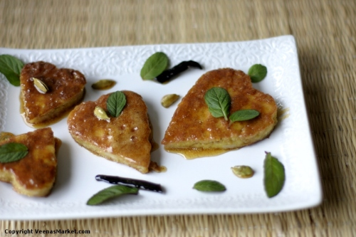 mother's day dessert almond bread fritters with vanilla cardamom honey syrup