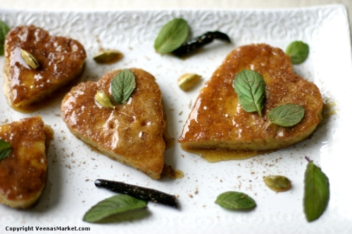 mothers day almond breadcrumb fritters in vanilla cardamom honey syrup