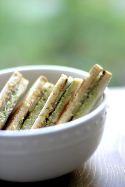 cucumber sandwiches with mint chutney and homemade tomato sauce