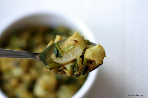 curried turnips and cauliflower
