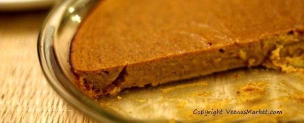 dairy free gluten free no crust pumpkin pie